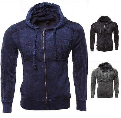 Homme Pull Veste Pull Chemise Pullover Capuche Sweat Shirt Manches Longues Zip