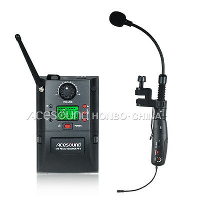 UHF Wireless Instrument System Saxophone Microphone Mic wireless transmitter
