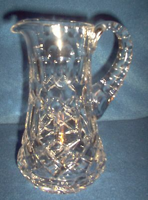Vintage Depression Cut Glass Creamer with Applied Handle