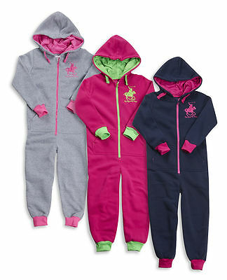 Childrens Kids Girls Designer Polo Player Onesee Super Soft Cosy Warm Hooded