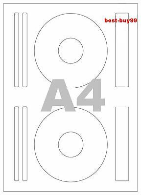 40 CD / DVD self adhesive labels / 2 labels & 6 spines/list per sheet, 20 sheets
