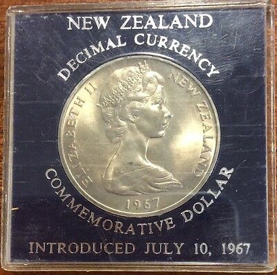 1967  new Zealand Cased large dollar