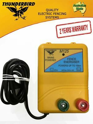 NEW MODEL Genuine Thunderbird 15 km M125 Mains Powered Electric Fence Energiser