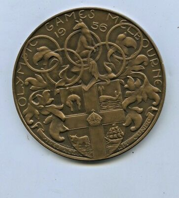 1956 SCARCE MELBOURNE OLYMPIC GAMES BRONZE PARTICIPANTS MEDAL 12,250 MADE c55