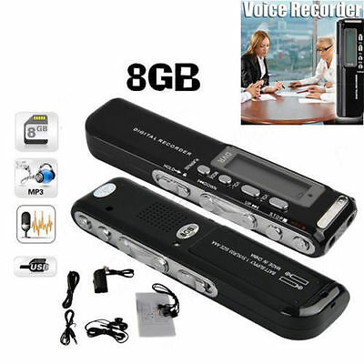8GB 650Hr USB LCD Screen Digital Audio Voice Recorder Dictaphone MP3 Player USA