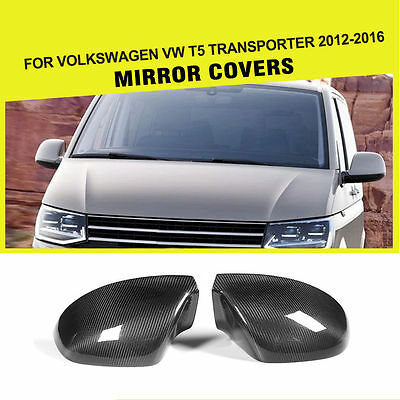 Carbon Fiber Rearview mirror covers Fit for Volkswagen VW T5 Transporter 12-16