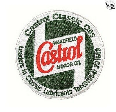 CASTROL CLASSIC Classic Embroidered Sponsors Sew-On Badge - STR657