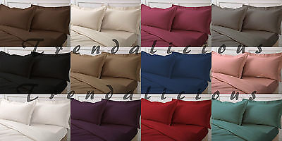 SINGLE DOUBLE KING SUPER KING SHEETS SIZE 16 inch/40 CM EXTRA DEEP FITTED SHEETS