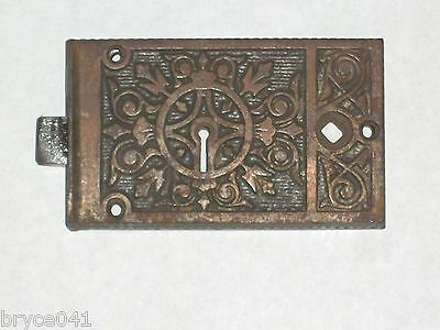 Antique Eastlake Era Rim Lock by  B&L Very Nice Very Ornate