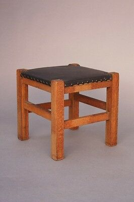 1910 Arts & Crafts Riveted Footstool by Barber Bros Company Craftsman (8625)
