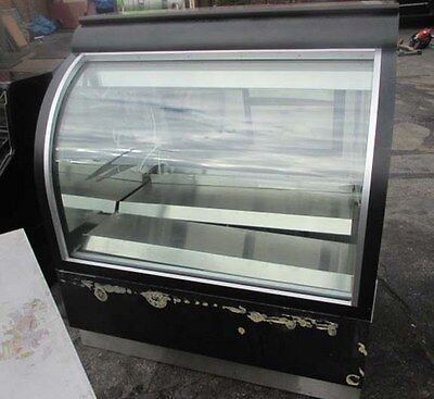 "RTI Industries 48"" Curved Glass Deli Display Case Refrigerated  SCGD48R-RR"