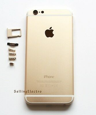 """Gold Back Housing Battery Cover Mid Frame Replacement for iPhone 6 4.7"""""""