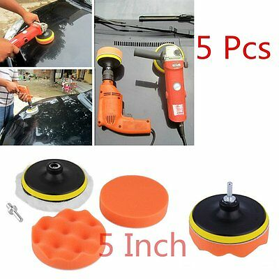 5 inch Polishing Sponge Pad M10 Drill Adapter Kit For Car Auto Polisher 5pcs AA