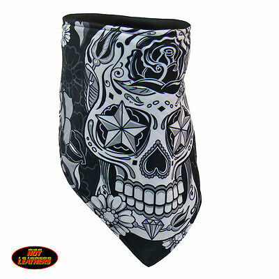 Hot Leathers Neck Warmer/Face Mask - Sugar Skull, FWC1002, Face Wrap