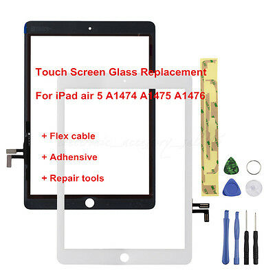 White Replacement Touch Screen Digitizer Front Glass Lens For iPad Air 5 5th