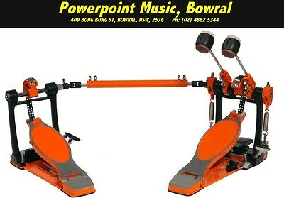 Sonic Drive Rock Twin Bass Drum Pedal in Orange Brand New! Free Shipping!