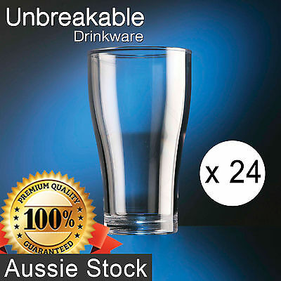 24x Polycarbonate Conical Glass 570ml - Unbreakable Drinkware