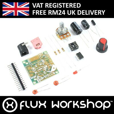 Mini Amplifier Board Unsoldered LM386 5V 12V 3.5mm Audio Flux Workshop