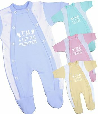 BabyPrem Baby Clothes Premature Tiny Boys Girls Sleepsuit Babygrow One - Piece