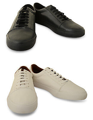 Crosshatch New Synthetic Shoes Mens Fashion Plimsolls Shoes Black White Trainers