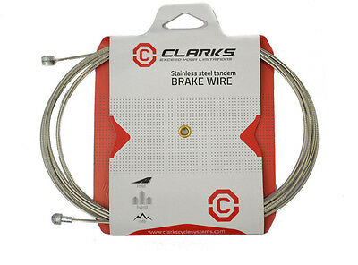 2 X CLARKS Inner Brake Cable Wire Stainless Steel Bike Cycle Bicycle Universal