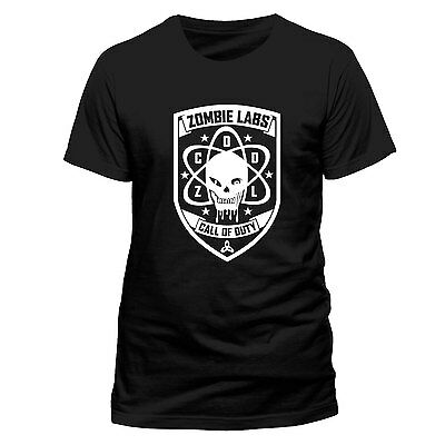 Call of Duty Black Ops 3 ZOMBIE LABS OFFICIAL T-SHIRT Black Cotton Unisex  ZCODL