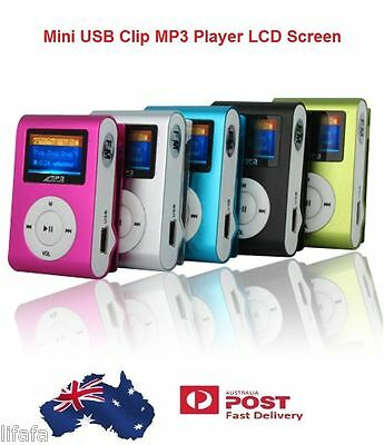 Fashion Mini USB Clip MP3 Player LCD Screen Support 64 GB Micro SD TF Card