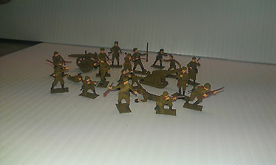 Hand Painted  Professionally 1/72 Ww2 Russian Soldier Lot