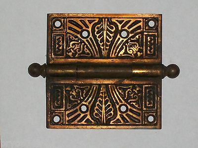 "Antique Eastlake Victorian Door Hinge 4 1/2"" x 4 1/2"""