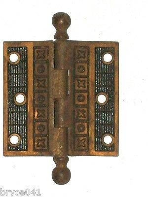 Antique Eastlake Victorian Door Hinge 3 x 3