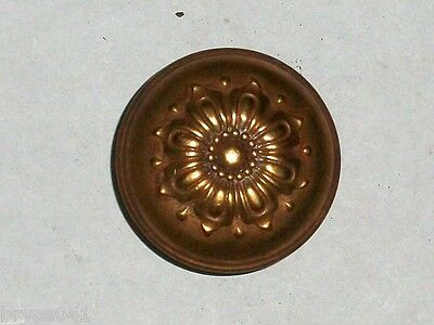 Antique Stamped Door Knob with Copper Finish