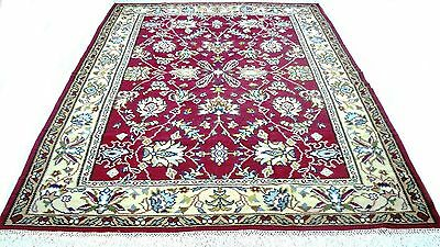 """Antique vintage handmade hand-knotted rug Persian design 80""""x 114"""" pure wool #10"""