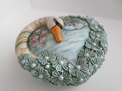 G. DeBrekht Endless Love Wrapped Wishes Series Swan Trinket Box #585261 Signed