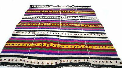 """Antique Vintage Tribal Handmade Hand-Knotted Soft Rug  75"""" x 102"""" pure wool  #91"""