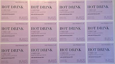 Marks and Spencer M&S hot drinks voucher x12 valid until 31 May 2017