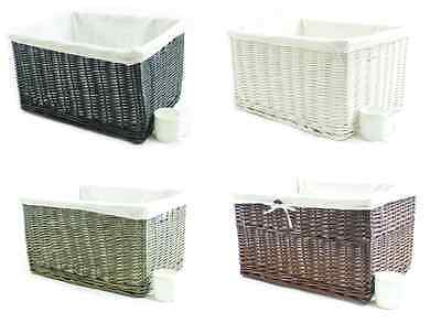Big Huge Deep Children Kids Baby Nursery Storage Wicker Basket Toy Box Organiser