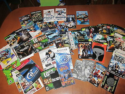 Huge lot of Playstation & XBox Manuals (manual & insert only - no game!)