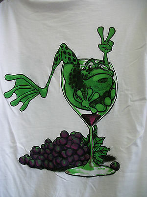 Peace Frogs Frog In Wine Glass Adult Large T-Shirt