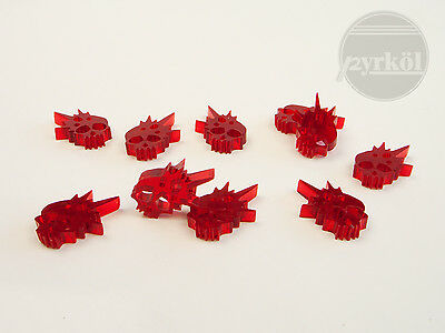 Pyrkol Skull Wound Markers / Tokens Health Life headshot blood red