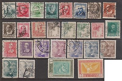 (ZA-124) 1900-40's SPAIN mix of 59 stamps