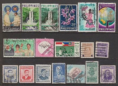 (ZA-121) 1890-1970's Philippines mix of 33 stamps