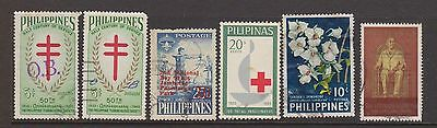 (ZA-120) 1950-60's Philippines mix of 26 stamps
