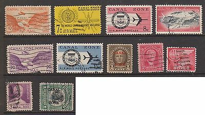 (ZA-141) 1904-65 Canal Zone mix of 11 stamps