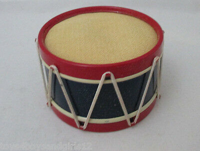 DRUM style PIN CUSHION ; ANTIQUE c1900 with Original BOX in MINT condition