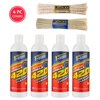 4pc Formula 420 Cleaner Glass Metal 12oz + 88 Zen Pipe Cleaners FREE 2-3 SH