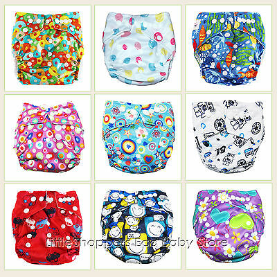 REUSABLE SWIM NAPPY Baby Swimmers NEWBORN to TODDLER Diaper Pants Nappies Cover