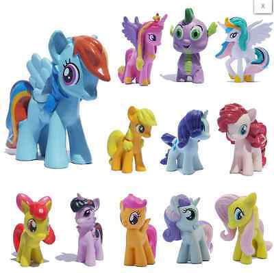 12pcs/Set Lot MY LITTLE PONY FRIENDSHIP IS MAGIC ACTION FIGURE Toy