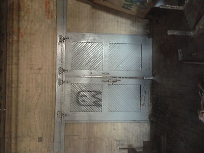 Vintage Salvaged Reclaimed Double Sliding Elevator shaft  Wooden  Doors #1
