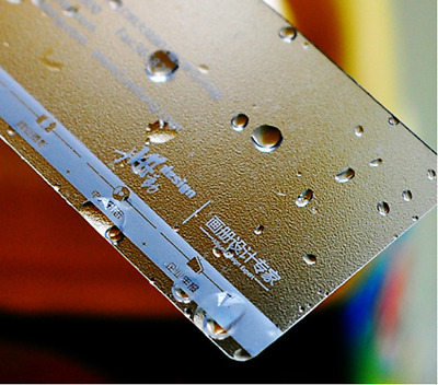 500 Custom Plastic Business Cards / Ticket Printing -Texture Frosted Transparent