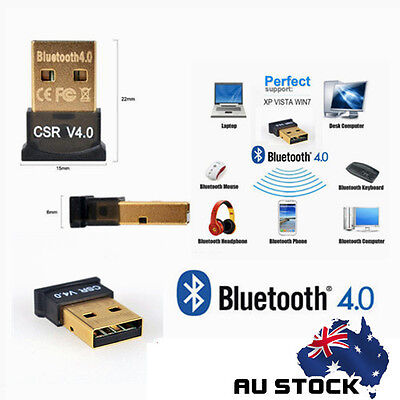 Wireless Bluetooth 4.0 Transmitter Receiver Adapter USB Dongle For PC Window 7